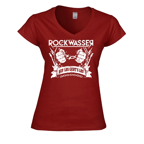 Rockwasser - Auf los gehts los, Girl V-Neck