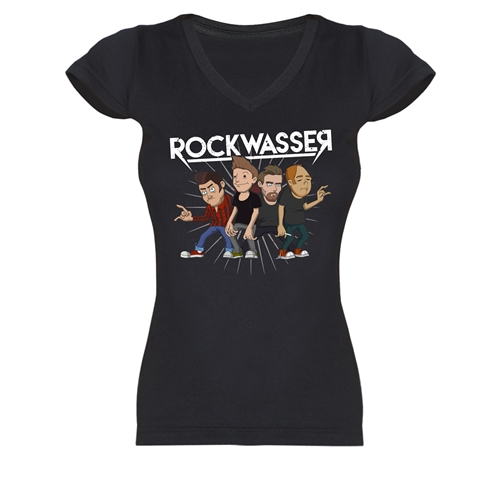 Rockwasser - Scheiss, Girl V-Neck