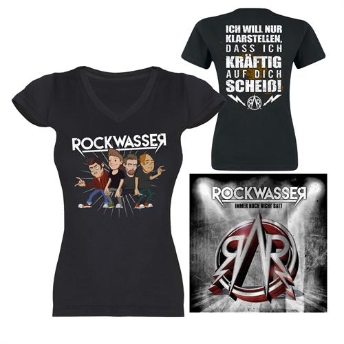 Rockwasser - Scheiss-V-Neck Girlie + CD, Package
